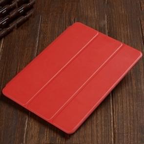 Drie-opvouwbare horizontale Flip lederen draagtas voor iPad Air (2019)  met houder (rood)