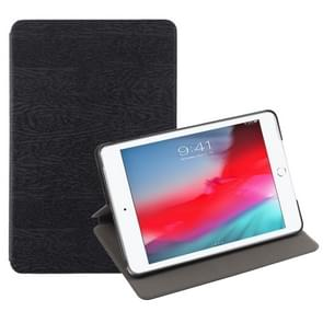 Tree Texture Horizontal Flip Leather Case for iPad Mini 2019, with Holder & Sleep / Wake-up Function (Black)