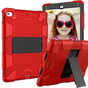 Shockproof Two-color Silicone Protection Shell for iPad Mini 2019 & 4, with Holder (Red+Black)