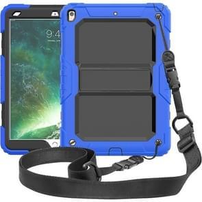 Schokbestendige PC + silicagel beschermhoes voor iPad Air (2019)  met houder & schouderriem (blauw)