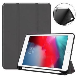 Ultrathin Shockproof Smart Horizontal Flip Leather Case for iPad Mini (2019) / iPad Mini 4, with Sleep / Wake-up Function & Three-folding Holder & Pen Slot (Black)