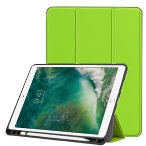 Custer Texture Horizontal Flip Leather Case for iPad Pro 10.5 Inch / iPad Air (2019), with Three-folding Holder & Pen Slot (Green)