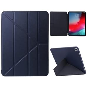 Millet Texture PU+ Silica Gel Full Coverage Leather Case for iPad Air (2019) / iPad Pro 10.5 inch, with Multi-folding Holder(Dark Blue)
