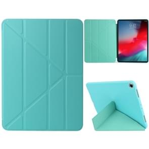 Millet Texture PU+ Silica Gel Full Coverage Leather Case for iPad Air (2019) / iPad Pro 10.5 inch, with Multi-folding Holder(Green)