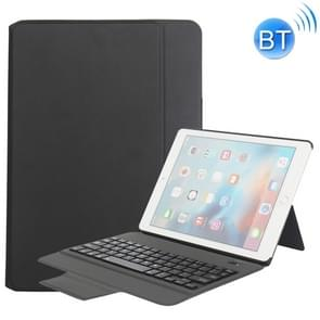MZ1048 For iPad Air 2 & Air 1 / Pro 9.7 inch & 2017 iPad & 2018 iPad Ultra-thin One-piece Plastic Bluetooth Keyboard Leather Cover with Stand Function (Black)