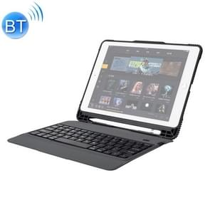 TC105 For iPad Pro 10.5 inch / Air 10.5 inch Detachable Ultra-thin Full Coverage Drop-proof Plastic Bluetooth Keyboard Leather Cover with Pen Slot & Stand Function (Black)