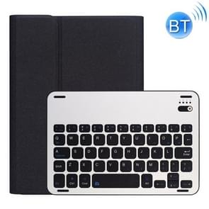RK845 For iPad iPad mini 5 / 4 Silk Texture Detachable Aluminum Alloy Bluetooth Keyboard Leather Cover with Pen Slot & Stand Function (Black)