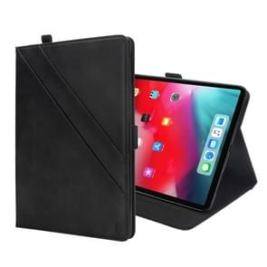 Horizontal Flip Double Holder Leather Case for iPad Pro 11 inch (2018), with Holder & Card Slots & Photo Frame(Black)