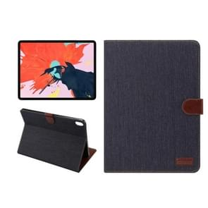 Horizontal Flip Denim Leather Case for iPad Pro 11 inch (2018), with Holder & Sleep / Wake-up Function & Wallet(Black)