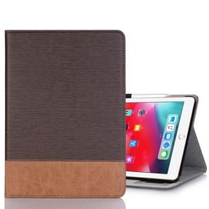 Cross Texture Horizontal Flip PU Leather Case for iPad Pro 11 inch (2018), with Holder & Card Slots & Wallet(Coffee)