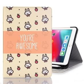 Rabbits Pattern Horizontal Flip Leather Case for iPad Pro 11 inch (2018),with Card Slots & Holder & Wallet & Photo Frame & Pen slot