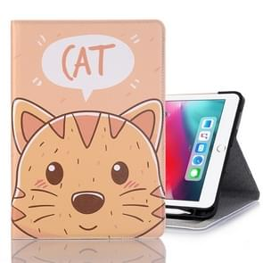 Cat Pattern Horizontal Flip Leather Case for iPad Pro 11 inch (2018),with Card Slots & Holder & Wallet & Photo Frame & Pen slot