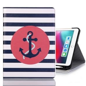 Ship Anchor Pattern Horizontal Flip Leather Case for iPad Pro 11 inch (2018),with Card Slots & Holder & Wallet & Photo Frame & Pen slot