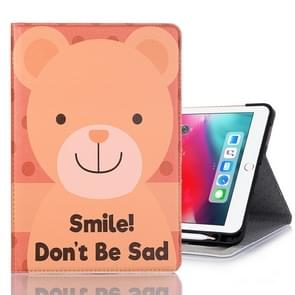 Smile Bear Pattern Horizontal Flip Leather Case for iPad Pro 11 inch (2018),with Card Slots & Holder & Wallet & Photo Frame & Pen slot
