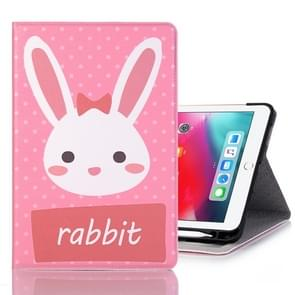 Rabbit Pattern Horizontal Flip Leather Case for iPad Pro 11 inch (2018),with Card Slots & Holder & Wallet & Photo Frame & Pen slot