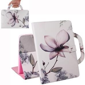 Magnolia Pattern Horizontal Flip Leather Case for iPad Mini(2019) / Mini 1 / 2 / 3 / 4, with Holder & Card Slot & Wallet