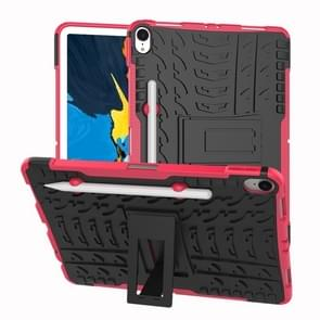 Tire Texture TPU+PC Shockproof Case for iPad Pro 11 inch (2018), with Holder & Pen Slot (Pink)