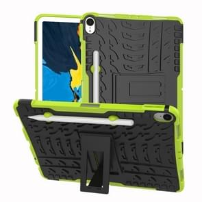 Tire Texture TPU+PC Shockproof Case for iPad Pro 11 inch (2018), with Holder & Pen Slot (Green)