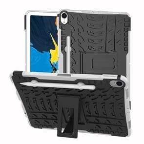Tire Texture TPU+PC Shockproof Case for iPad Pro 11 inch (2018), with Holder & Pen Slot (White)