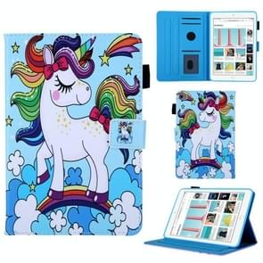 Rainbow Unicorn Pattern Horizontal Flip Leather Case for iPad mini 2019 & 4 & 3 & 2 & 1, with Holder & Card Slot & Sleep / Wake-up Function