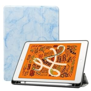 Marble Texture Pattern Horizontal Flip Leather Case for iPad Air 2019 10.5 inch, with Three-folding Holder & Pen Slot & Sleep / Wake-up Function (Blue)