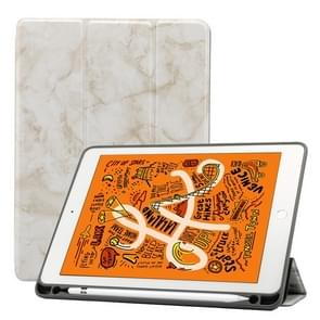Marble Texture Pattern Horizontal Flip Leather Case for iPad Air 2019 10.5 inch, with Three-folding Holder & Pen Slot & Sleep / Wake-up Function (White)