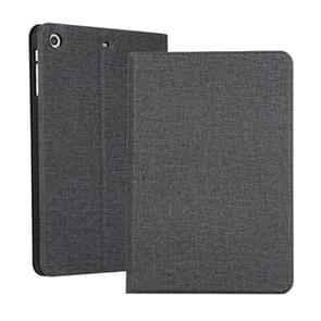 Universele voltage Craft doek TPU beschermhoes voor iPad Mini 1/2/3  met houder (zwart)