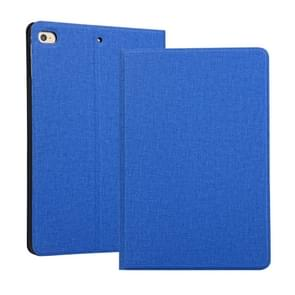 Universal Voltage Craft Cloth TPU Protective Case for iPad Mini 4 / 5, with Holder(Blue)