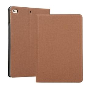 Universal Voltage Craft Cloth TPU Protective Case for iPad Mini 4 / 5, with Holder(Brown)