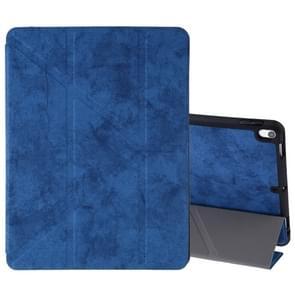 Zijde textuur horizontale Flip lederen case voor iPad Air 2019/Pro 10 5 inch  met drie-opvouwbare houder & slaap/Wake-up functie (donkerblauw)