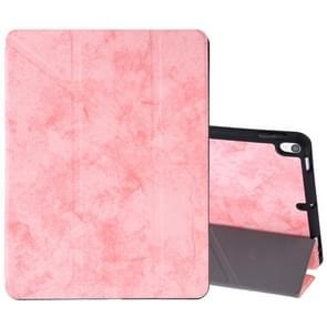 Zijde textuur horizontale Flip lederen case voor iPad Air 2019/Pro 10 5 inch  met drie-opvouwbare houder & slaap/Wake-up functie (roze)
