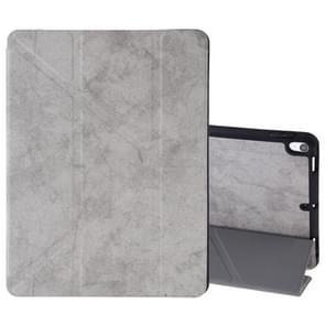 Zijde textuur horizontale Flip lederen case voor iPad Air 2019/Pro 10 5 inch  met drie-opvouwbare houder & slaap/Wake-up functie (grijs)
