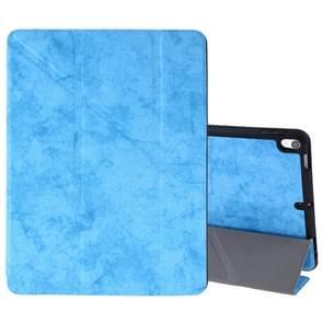 Zijde textuur horizontale Flip lederen case voor iPad Air 2019/Pro 10 5 inch  met drie-opvouwbare houder & slaap/Wake-up functie (hemelsblauw)