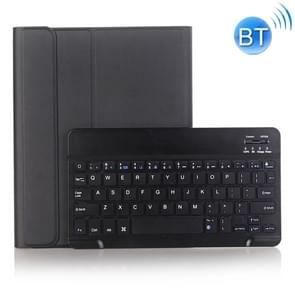 A102B For iPad 10.2 inch 2019 Ultra-thin Detachable Bluetooth Keyboard Leather Case with Stand & Pen Slot Function (Black)