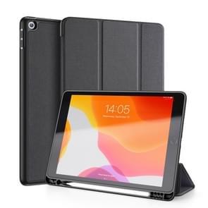 Voor iPad 10 2 DUX DUCIS Domo serie horizontale Flip magnetische PU lederen draagtas met drie-opvouwbare houder & Pensleuf & slaap/Wake-up functie (zwart)