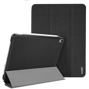 Domo Series Horizontal Flip Magnetic PU Leather Case for iPad Pro 12.9 inch (2018), with Three-folding Holder & Sleep / Wake-up Function (Black)