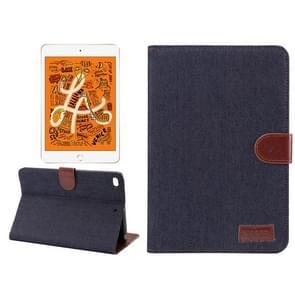 Horizontal Flip Denim Leather Case for iPad Mini 2019 / iPad Mini 4, with Holder & Sleep / Wake-up Function & Wallet (Black)