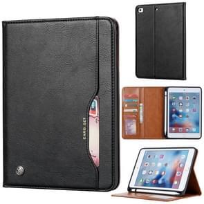 Kneed huid textuur horizontale Flip lederen case voor iPad mini 2019  met fotolijst & houder & card slots & portemonnee & pen slot (zwart)