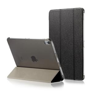 Silk Texture Horizontal Flip Magnetic PU Leather Case for iPad Pro 11 inch (2018), with Three-folding Holder & Sleep / Wake-up Function(Black)