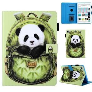 Schooltas serie groene Panda patroon horizontale Flip lederen case voor iPad mini 2019 & 4 & 3 & 2 & 1, met houder & kaartsleuf & slaap/Wake-up functie