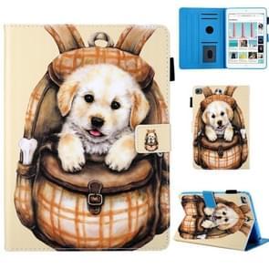 Schooltas serie cute hond patroon horizontale Flip lederen case voor iPad mini 2019 & 4 & 3 & 2 & 1, met houder & kaartsleuf & slaap/Wake-up functie