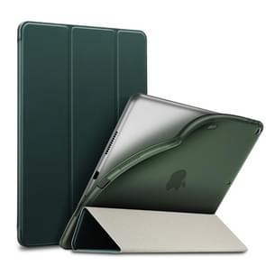 ESR Yippee Color Rebound Series Slim Fit Leather + Soft TPU Case for iPad Air 2019 10.5 inch, with Three-folding & Sleep / Wake-up Function(Green)