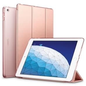 ESR Yippee Color Series Slim Fit Leather Case for iPad Air 2019 10.5 inch, with Three-folding & Sleep / Wake-up Function(Rose Gold)