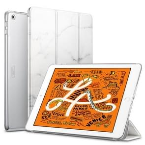 ESR Marble Series PC + PU Leather Case for iPad Mini 2019, with Three-folding & Sleep / Wake-up Function (White)