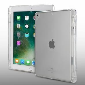 Transparent TPU Chipped Edge Soft Protective Back Cover Case for iPad Pro 10.5 inch, with Pen Slots(Transparent)