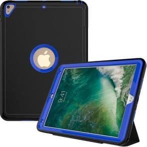 For iPad Pro 10.5 inch (2017) 3-layer Magnetic Protective Case with Smart Cover Auto-sleep & Awake Function(Blue)