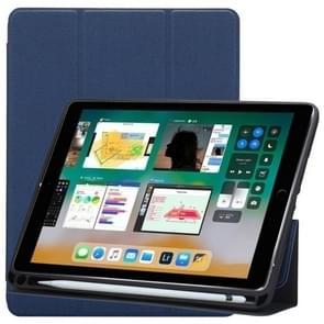 Doek textuur patroon horizontale Flip lederen case voor iPad Pro 10 5 inch  met drie-vouwen houder & pen sleuven (blauw)