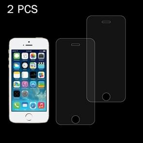 2 PCS for iPhone SE & 5s & 5C & 5 0.26mm 9H Surface Hardness 2.5D Explosion-proof Tempered Glass Screen Film