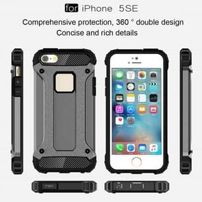 Harde Armor TPU + PC combinatie Case voor iPhone SE & 5 & 5s(Grey)