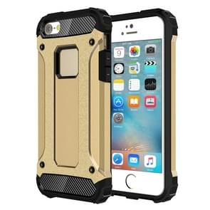 Harde Armor TPU + PC combinatie Case voor iPhone SE & 5 & 5s(Gold)